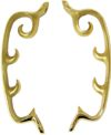 D-5276 Morris Chair Brackets - Polished Brass Finish