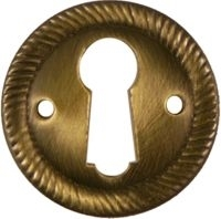 AB-0239 Antiqued Brass Round Keyhole Cover
