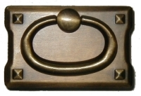 AD-0689 Mission Style Pull - Antique Brass Finish