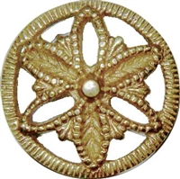 B-0360 Victorian Knob with Backplate - Brass