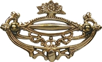 B-0610 Victorian Drawer Pull - Brass