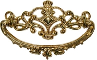 B-0627 Victorian Drawer Pull - Brass