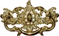 B-0630 Victorian Drawer Pull - Brass