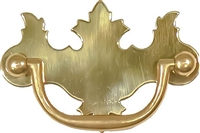 "B-0638 EARLY AMERICAN Drawer Pull - 2-1/2"" Centers - Brass"