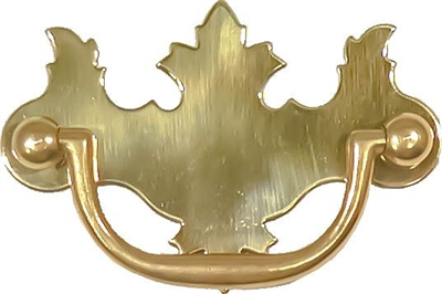 Polished Brass Early American Style Drawer Pull