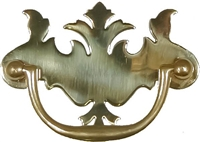 "B-0648 EARLY AMERICAN Drawer Pull - 3"" Centers - Brass"