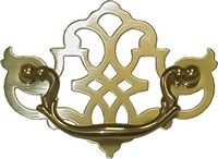 B-0651 Pierced CHIPPENDALE Drawer Pull - Brass