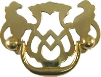 "B-0661 Chippendale Drawer Pull - 2""Ctr - Brass"