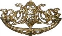 B-0668 Victorian Drawer Pull - Brass