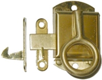 B-1515R Right Hand NAPANEE Cabinet Latch - Brass