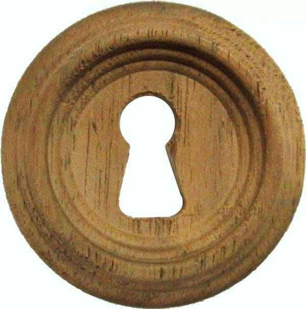 Antique Victorian Walnut Beehive Keyhole Cover