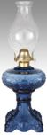 "BP-68701 Medium Blue ""Princess Feather"" Kerosene Oil Lamp"