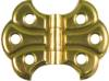 D-1782 Small Butterfly Hinge - Brass Plated Steel