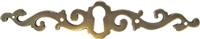 AB-0109 Antiqued Brass Horizontal Keyhole Plate - 5-1/8""