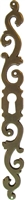 AB-0117 Antiqued Brass Left Hand Keyhole Plate - 7""