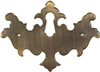 AB-0165 Antiqued Brass Chippendale Keyhole Cover