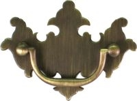"AB-0665 Antiqued Brass Chippendale Pull - 2"" CC"