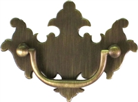 "AB-0675 Antiqued Brass Chippendale Drawer Pull - 2-1/2"" CC"