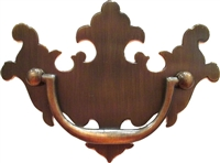"AB-0685 Antiqued Brass Chippendale Pull - 3"" CC"