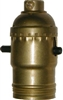 AB-9547 Push-Thru Lamp Socket - Brass