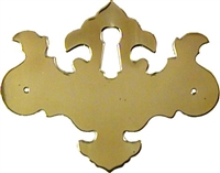 B-0177 CHIPPENDALE Keyhole Cover - Brass