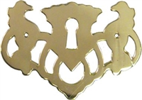 B-0191 Chippendale Keyhole Cover - Brass