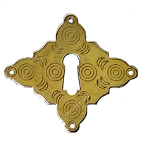 B-0209 William & Mary Keyhole Cover - Brass