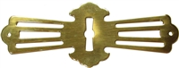 B-0267 Roll Top Desk Escutcheon - Brass