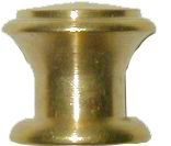 B-0313 Small Drawer Knob - Brass - 1/2""