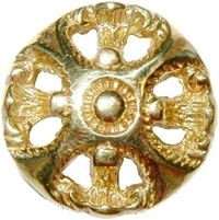 B-0320 Victorian Knob with Backplate - Brass