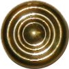 B-0345A Early AmericanTurned Knob - Brass - 7/8""
