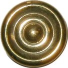 B-0345B Early American Turned Knob - Brass - 1""