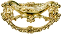 B-0673 Victorian Drawer Pull - Brass