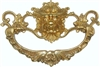 B-0676 Lion Head Drawer Pull - Brass