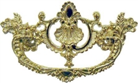 B-0688 Victorian Drawer Pull - Brass