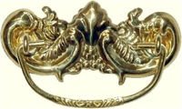 B-0817 Victorian Drawer Pull - Brass