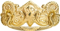 B-0837 Victorian Drawer Pull - Brass