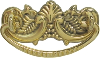 B-0897 Small Victorian Drawer Pull - Brass
