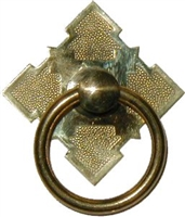 B-1204 Eastlake Ring Pull - Brass