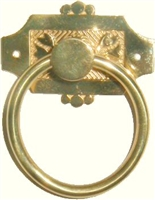 B-1231 Eastlake Ring Pull - Brass