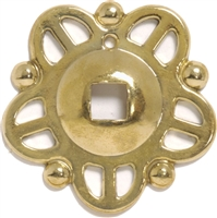 B-1286 Pierced Backplate - Brass