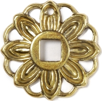 B-1287 Flower Backplate - Brass