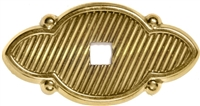 B-1289 Diagonal Backplate - Brass
