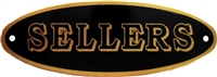 B-1510 SELLERS Nameplate - Brass