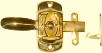 "B-1514 Universal HOOSIER ""H"" Cabinet Latch - Brass"