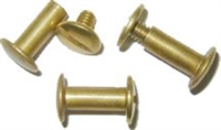 B-3744 Screw Post - Brass - 1/2""