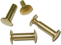 B-3745 Screw Post - Brass - 5/8""