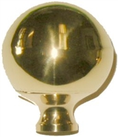 B-9406 SMALL Brass Bed Ball - 1-3/4""