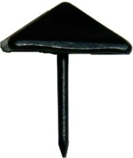 BL-3524 Decorative Nail - DULL BLACK - 11/16""