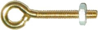 D-0517 Plain Eyebolt - Brass Plated